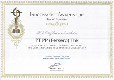 INDOCEMENT AWARD 2012 Indocement Contractor Award: Big Scale The Best Innovation In Sustainable Development