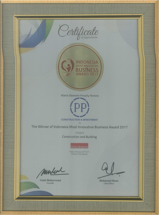 The Winner of Indonesia Most Innovative Business Award 2017